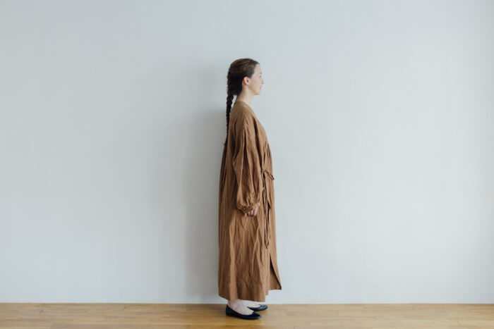 Embroidery DRESS  brown 2