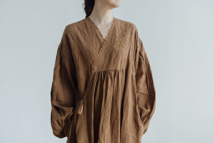 Embroidery DRESS  brown 4