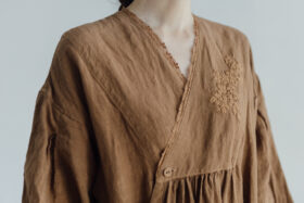 Embroidery DRESS  brown 5