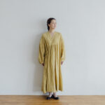 Embroidery DRESS  mustard yellow