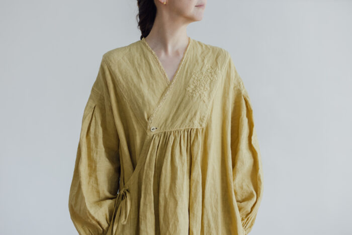 Embroidery DRESS  mustard yellow 4