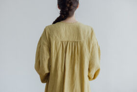 Embroidery DRESS  mustard yellow 6