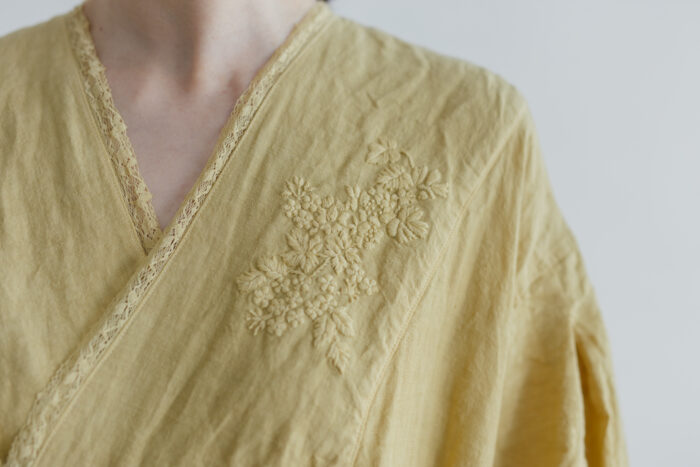 Embroidery DRESS  mustard yellow 5