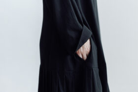 予約 2WAY LOW PLEATS ONE PIECE  black 4