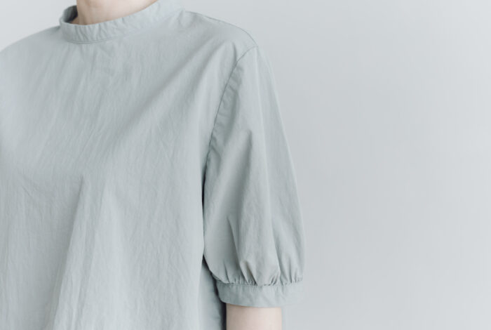 予約 PUFFED SLEEVE PULLOVER  grayish blue 4
