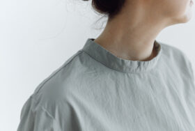 予約 PUFFED SLEEVE PULLOVER  grayish blue 5
