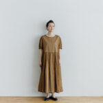 予約 ORGANDY ONE PIECE brown