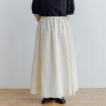 予約 ORGANDY REVERSIBLE SKIRT beige