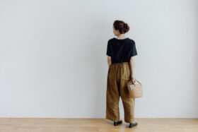 LINEN ATELIER PANTS  khaki beige 6