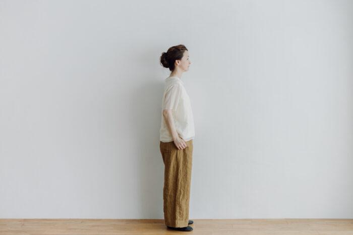 LINEN ATELIER PANTS  khaki beige 2