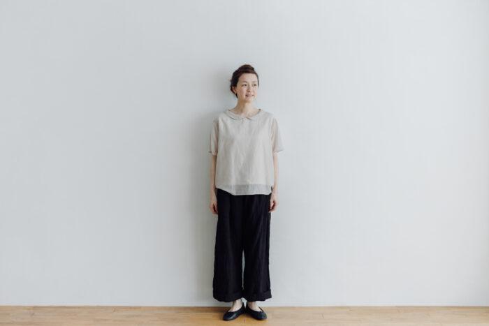 予約 LINEN ATELIER PANTS  black 4
