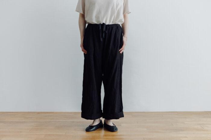 LINEN ATELIER PANTS  black 1