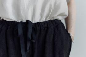 LINEN ATELIER PANTS  black 3
