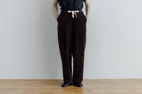 予約 VELVETEEN KUNG FU PANTS  brown 1