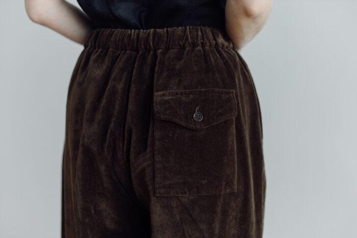 予約 VELVETEEN KUNG FU PANTS  brown 2