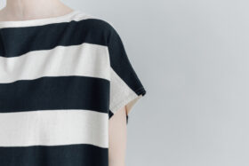 予約 STRIPE TENJIKU WIDE ONE PIECE  kinari-black 4