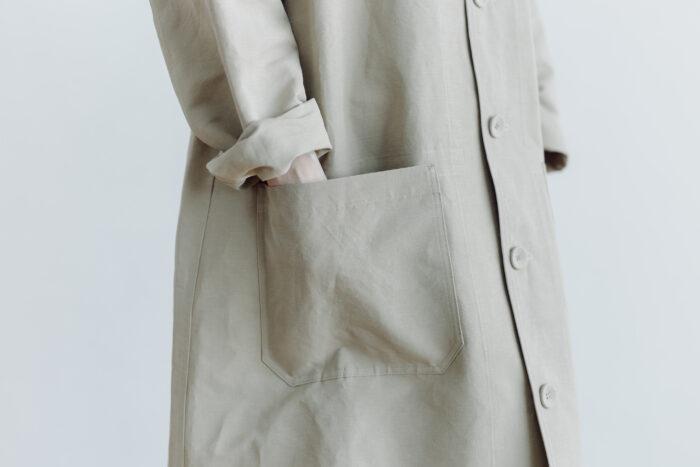 COTTON LINEN WORK COAT beige 4