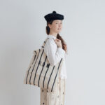 LETTERD BAG white×navy