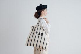 LETTERD BAG white×navy 1