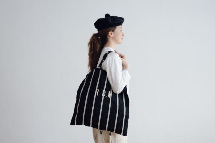 LETTERD BAG black×white 2