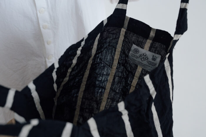 LETTERD BAG black×white 5