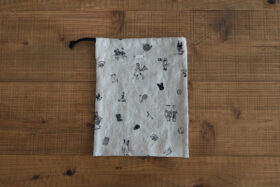 B.S EMBROIDERY LINEN DRAWS TRING BAG S 1