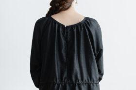 Khadi Silk Back Button Dress   Black 6
