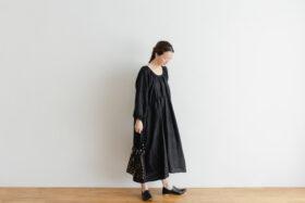 Khadi Linen Cotton Ramdan Dots Hand Print Embroidery  Drawstring Bag  Black 2