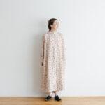 Khadi Silk All Embroidery  High Neck Wide Dress