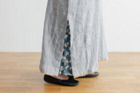 Khadi Cotton Silk Embroidery Dress Charcoal 5