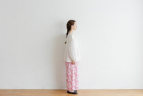 Khadi Cotton Silk Flamingo Hand Print  Tuck Pants 2