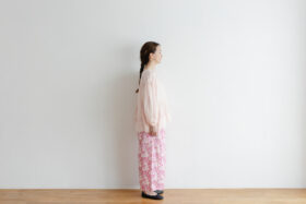 Khadi Cotton Silk Gather Blouse nude pink 2