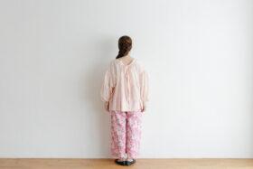 Khadi Cotton Silk Gather Blouse nude pink 3