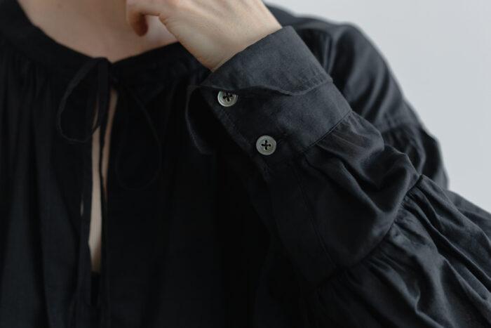 白く透ける玉  ギャザーチュニック black 6