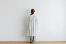 白く透ける玉  ギャザーチュニック antique white 3