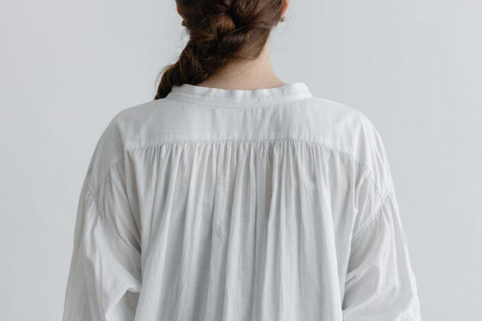 白く透ける玉  ギャザーチュニック antique white 5
