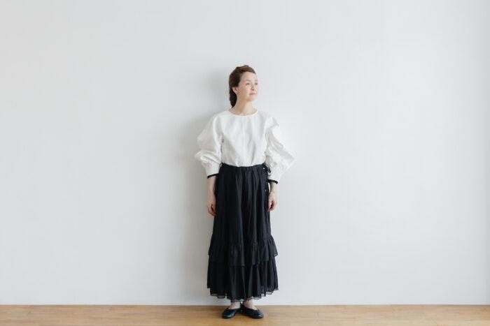 琵琶の音  スカート black 1
