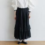 琵琶の音  スカート black