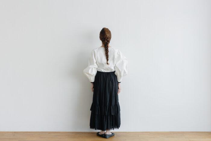 琵琶の音  スカート black 3