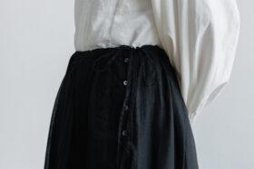 琵琶の音  スカート black 4