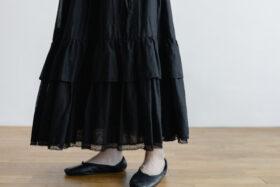 琵琶の音  スカート black 5