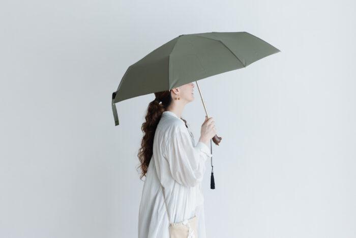 Folding Umbrella cat×khaki 1