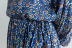 予約 R038 FLORAL RUFFLE SKIRT blue 4