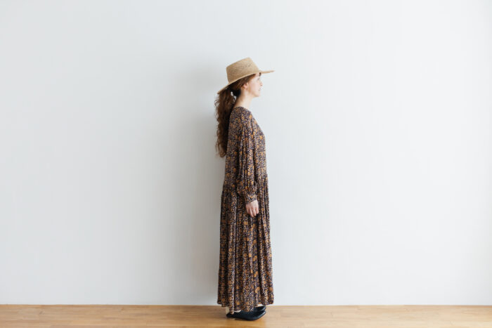 予約 R037 FLORAL DRESS black 2