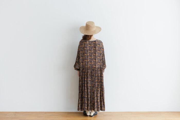 予約 R037 FLORAL DRESS black 3