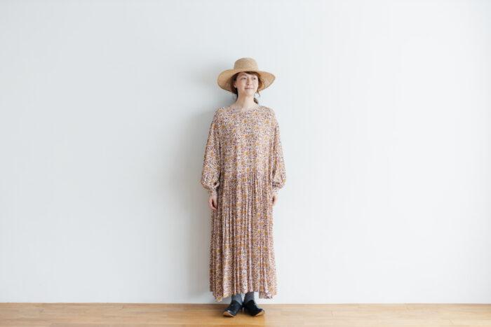 予約 R037 FLORAL DRESS white 1