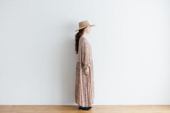 予約 R037 FLORAL DRESS white 2