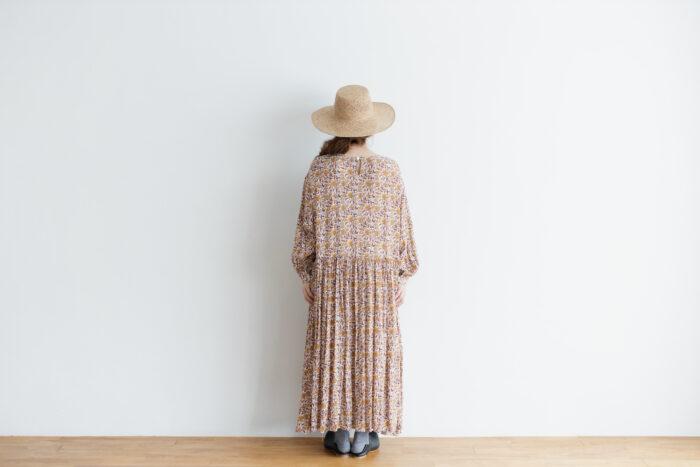 予約 R037 FLORAL DRESS white 3