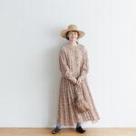 予約 R037 FLORAL DRESS white