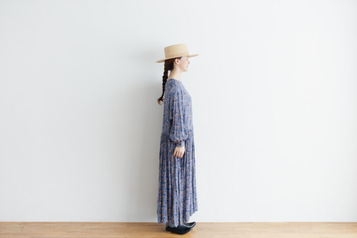 予約 R037 FLORAL DRESS blue 2